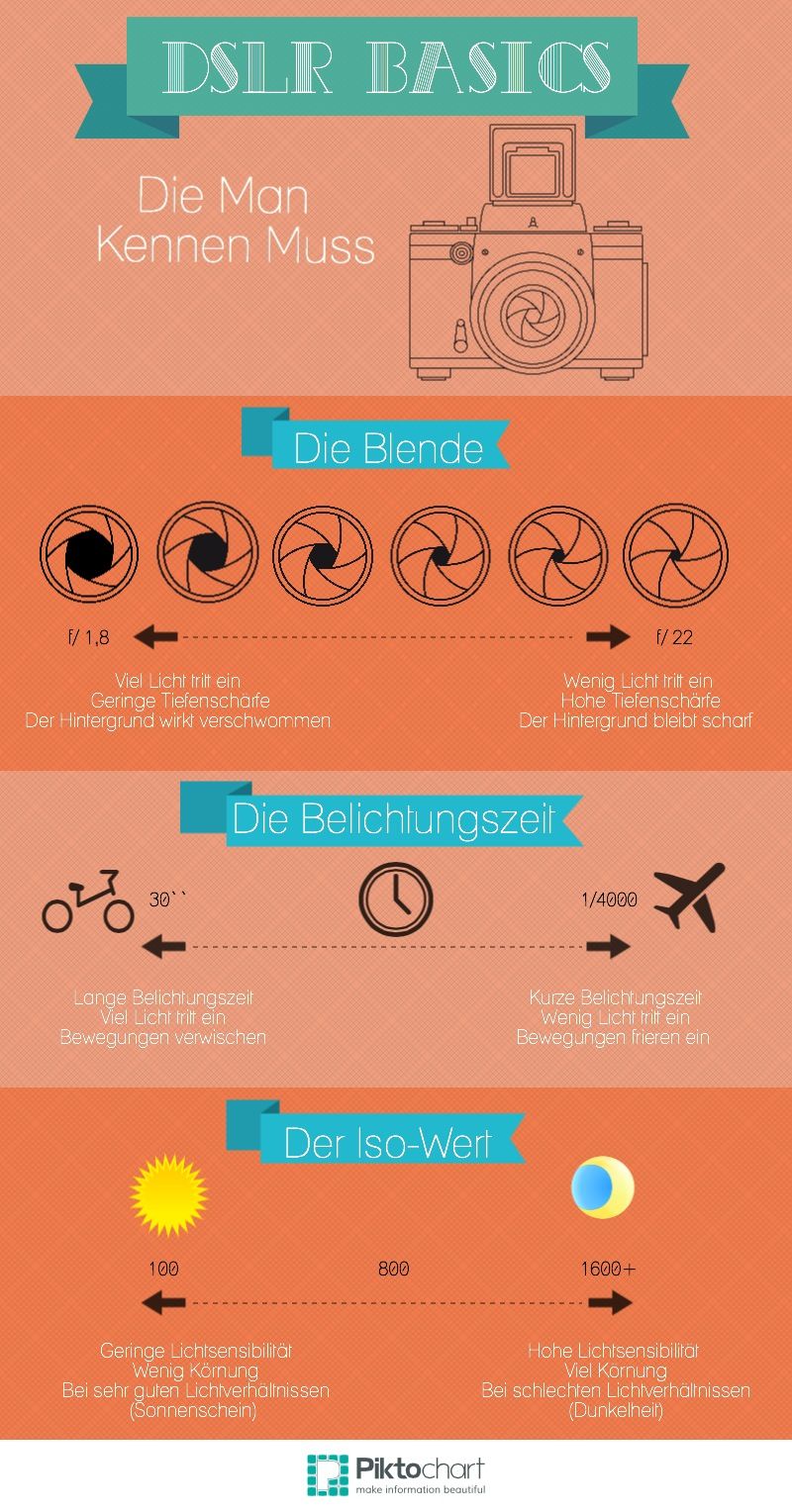 DSLR Basics infographic