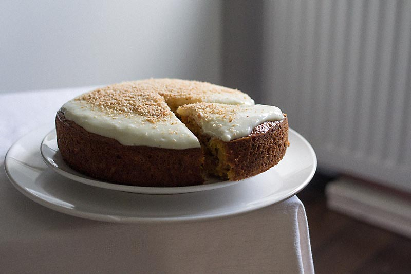 Carrot Cake with Shredded Coconut