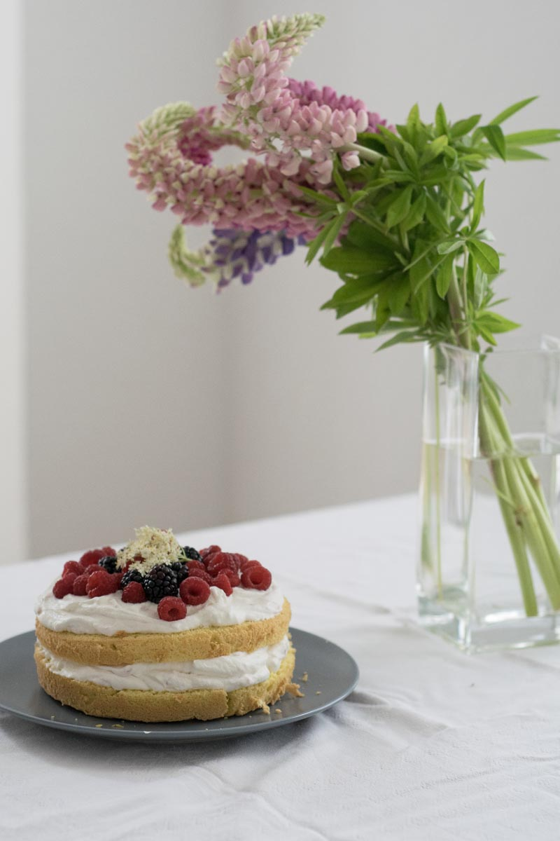 berry biscuit cake