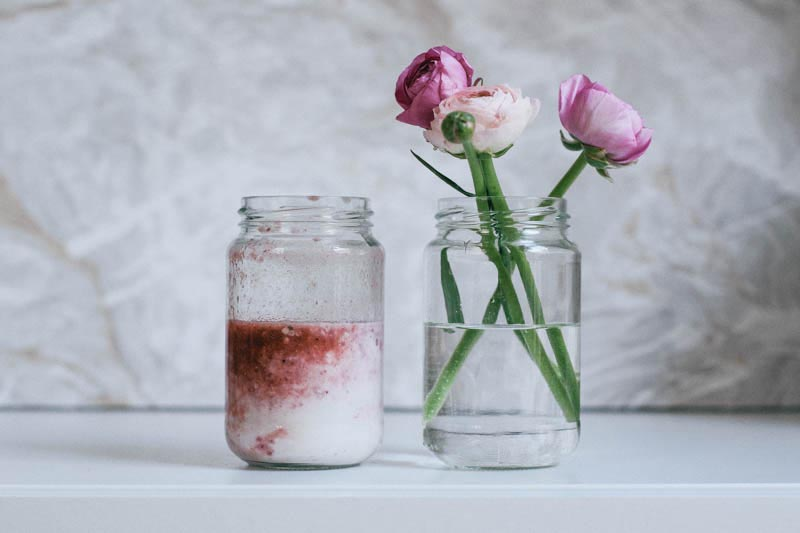 cremiger erdbeer kokos smoothie